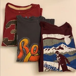 Lot of (3) Long sleeved tees size 7/8